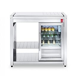Pöytätaso integroidulla jääkaapilla PLA.NET OASI 97 ICE, teräksinen työtaso