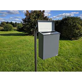 PATE Postilaatikkoteline 1-laatikko kaari-tolppa