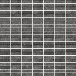 Mosaiikkilaatta Pukkila Stonemix Anthracite mattoncino himmeä sileä 14x43 mm