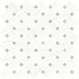 Mosaiikkilaatta Pukkila Pure Carrara chesterfied himmeä sileä 24x48 mm