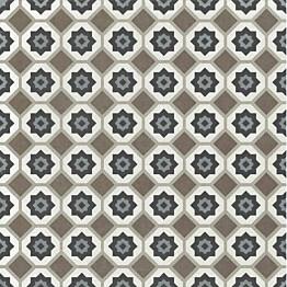 Kuviolaatta Pukkila Antique 2.0 Disco colors himmeä sileä 200x200 mm