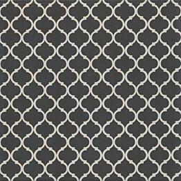 Kuviolaatta Pukkila Antique 2.0 Funk black/white himmeä sileä 200x200 mm