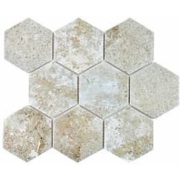 Mosaiikkilaatta Pukkila Zement himmeä karhea 110x95 mm
