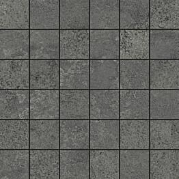 Mosaiikkilaatta Pukkila Urban Stone Anthracite himmeä sileä 47x47 mm