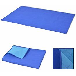 Piknikviltti sininen ja vaaleansininen 100x150 cm_1