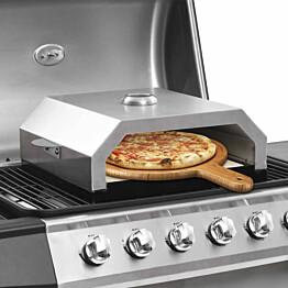 Pizzauuni keraamisella kivellä kaasu tai hiiligrilliin_1