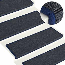 Porrasmatot 15 kpl 65x25 cm harmaa ja sininen_1