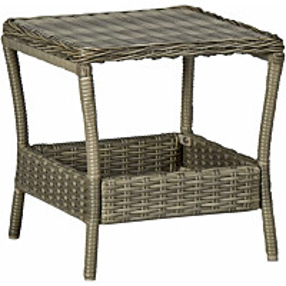 Puutarhapöytä ruskea 45x45x46,5 cm polyrottinki_1