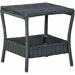 Puutarhapöytä tummanharmaa 45x45x46,5 cm polyrottinki_1
