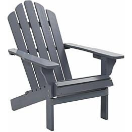 Puutarhatuoli puinen harmaa_1