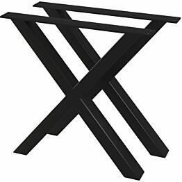 Ruokapöydän jalat 2 kpl x-runko 80x72 cm_1
