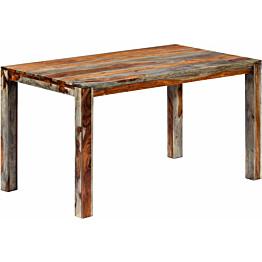 Ruokapöytä harmaa 140x70x76 cm täysi seesampuu_1
