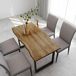 Ruokapöytä täysi akaasiapuu 140x70x76 cm_1