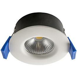 LED-alasvalo Airam Compact Ø80x38 mm IP65 5W/840 himmennettävä valkoinen