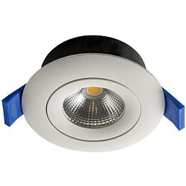 LED-alasvalo Airam Compact Ø90x40 mm IP44 7W/830 himmennettävä suunnattava valkoinen