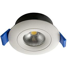 LED-alasvalo Airam Compact Ø90x40 mm IP44 7W/840 himmennettävä suunnattava valkoinen