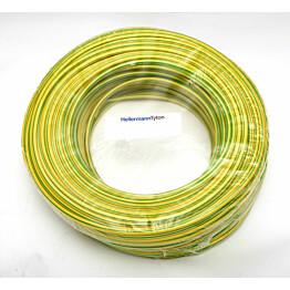 PVC-suojasukka PVC 4mm 100m kelta-vihreä