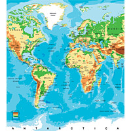 Kuvatapetti Dimex  World Map 225 x 250 cm