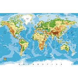 Kuvatapetti Dimex  World Map 375 x 250 cm