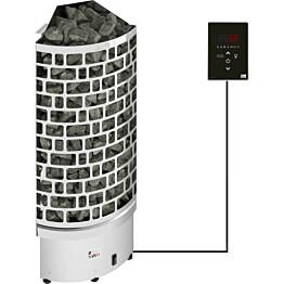 Sähkökiuas SAWO Aries Corner Ni2, 4,5 kW, 3-6m³, erillinen ohjaus