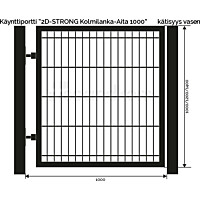 Käyntiportti Scandkom 2D Strong 1200x1000 mm