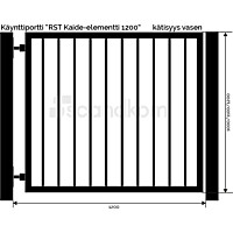 Käyntiportti Scandkom Kaide 1200x1200 mm rst