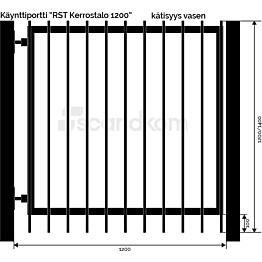 Käyntiportti Scandkom Kerrostalo 1200x1200 mm rst