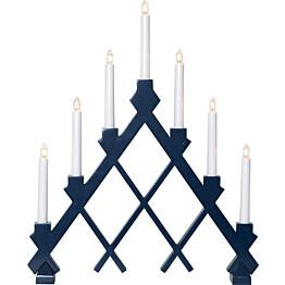 Kynttelikkö Star Trading Rut 7-osainen 530x430x70mm sininen