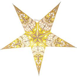 Paperitähti Star Trading Bright Ø600x200mm valkoinen/harmaa/keltainen