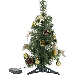 LED-pöytäkuusi Star Trading Decorage 45cm vihreä/kulta