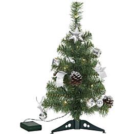 LED-pöytäkuusi Star Trading Decorage 45cm vihreä/hopea