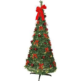 LED-joulukuusi Star Trading Pop-up-tree 185cm vihreä/punainen