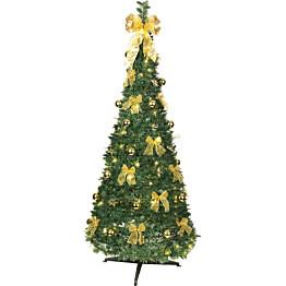 LED-joulukuusi Star Trading Pop-up-tree 185cm vihreä/keltainen
