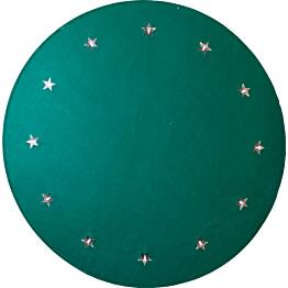 LED-joulukuusimatto Star Trading Granne Ø100 vihreä