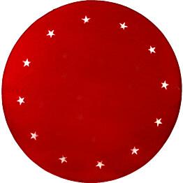 LED-joulukuusimatto Star Trading Granne Ø100 punainen
