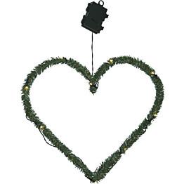 LED-kranssi Star Trading Line Heart 380x400x2mm vihreä
