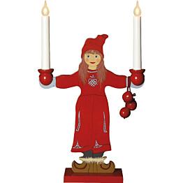 Kynttelikkö Star Trading Sunborn 2-osainen 480x300x100mm punainen