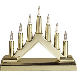 LED-kynttelikkö Star Trading Tuff 7-osainen 130x160x40mm kulta