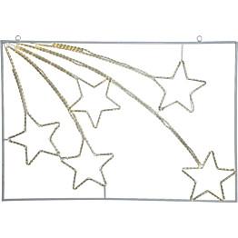 LED-koriste Star Trading Siluett Tapesil tähdenlennot 750x1100x25mm valkoinen