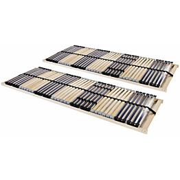 Sängyn sälepohjat 2 kpl 42 säleellä 7 vyöhykettä 90x200 cm_1