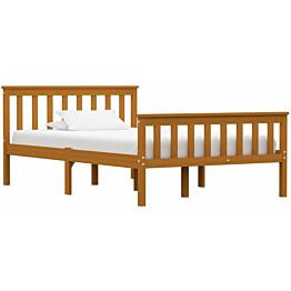 Sängynrunko 120x200 cm hunajanruskea täysi mänty_1