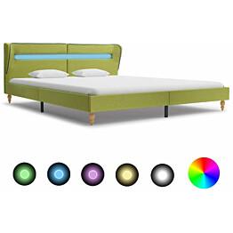 Sängynrunko led-valolla vihreä kangas 180x200 cm_1