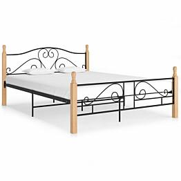 Sängynrunko musta metallinen 160x200 cm_1