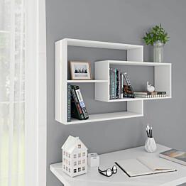 Seinähyllyt valkoinen 104x20x60 cm lastulevy_1
