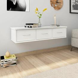 Seinälaatikkohylly korkeak. valkoinen 90x26x18,5cm lastulevy_1