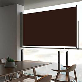 Sisäänvedettävä terassin sivumarkiisi 140 x 300 cm ruskea_1