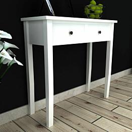Sivupöytä 2 laatikkoa valkoinen_1