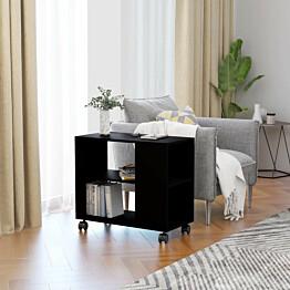 Sivupöytä musta 70x35x55 cm lastulevy_1