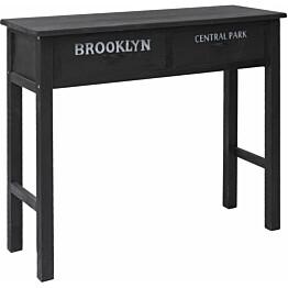 Sivupöytä musta 90x30x77 cm puu_1
