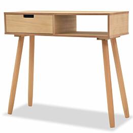 Sivupöytä täysi mänty 80x30x72 cm ruskea_1